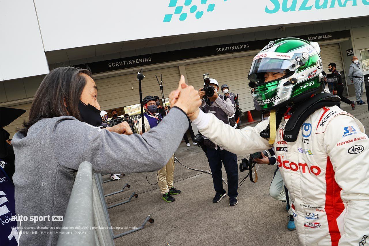 2021年スーパーフォーミュラ第2戦鈴鹿 予選ポールポジションを獲得した福住仁嶺