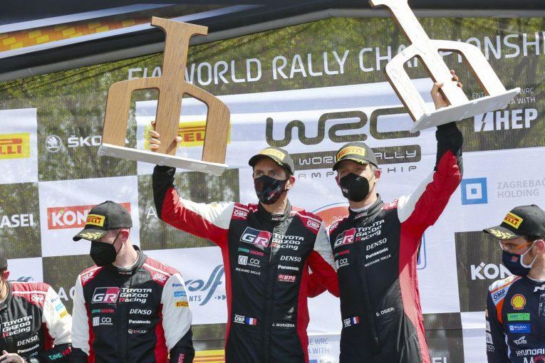 ラリー/WRC   トヨタ、今季2度目の1-2達成。エバンスとの接戦制したオジエが選手権首位に/WRC第3戦