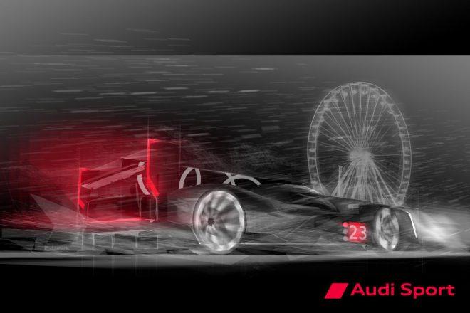 2021年4月29日に公開されたアウディLMDhプロトタイプの車両イメージ