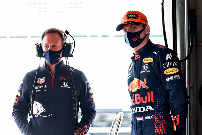 2021年F1第3戦ポルトガルGP マックス・フェルスタッペンとクリスチャン・ホーナー代表(レッドブル・ホンダ)