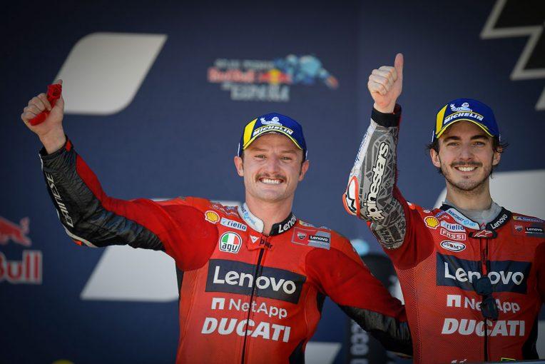 MotoGP | ミラー、ドライコンディションでの初優勝に歓喜「現実になるなんて」/MotoGP第4戦スペインGP決勝トップ3会見