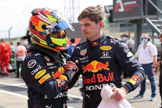 2021年F1第3戦ポルトガルGP マックス・フェルスタッペンとセルジオ・ペレス(レッドブル・ホンダ)