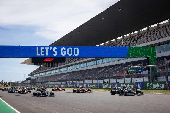 2021年F1第3戦ポルトガルGP 決勝レーススタート