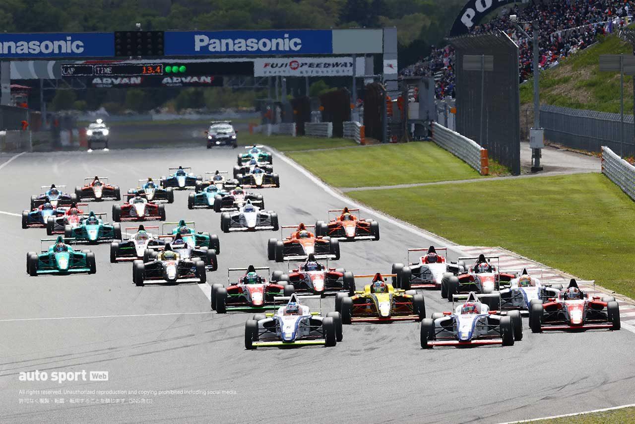 2021年FIA-F4 第1戦富士 決勝スタートの様子