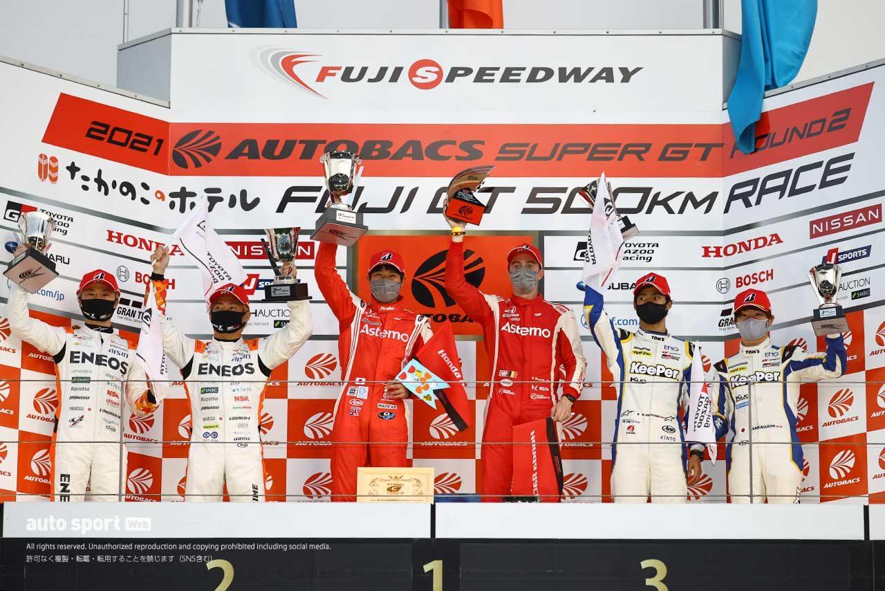 2021スーパーGT第2戦富士 GT500クラス表彰台