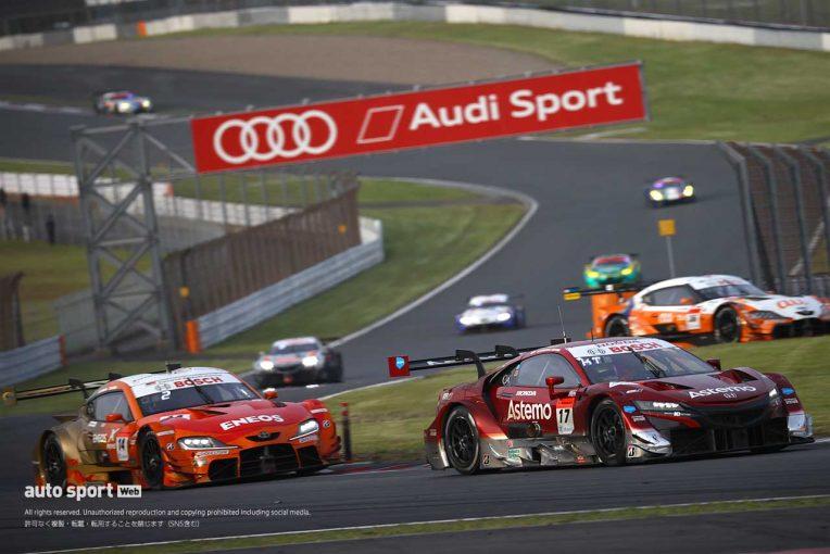 スーパーGT | レースに勝つも勝負どころで苦しんだホンダ陣営。エンジン燃費効率は大きな武器に【第2戦富士GT500決勝】