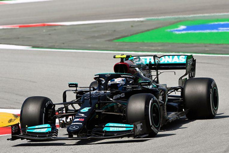 F1   スペインGP FP1:ボッタスが首位。レッドブル・ホンダのフェルスタッペンが0.03秒差で2番手に