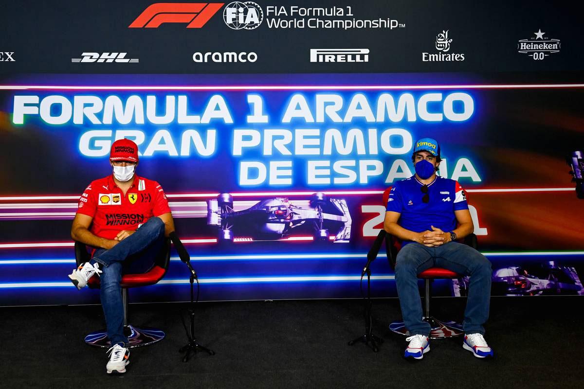 カルロス・サインツJr.(フェラーリ)&フェルナンド・アロンソ(アルピーヌ)