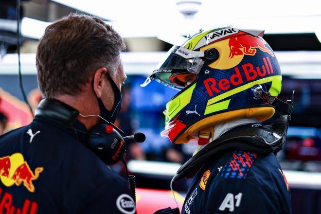 2021年F1第4戦スペインGP セルジオ・ペレスとクリスチャン・ホーナー代表(レッドブル・ホンダ)