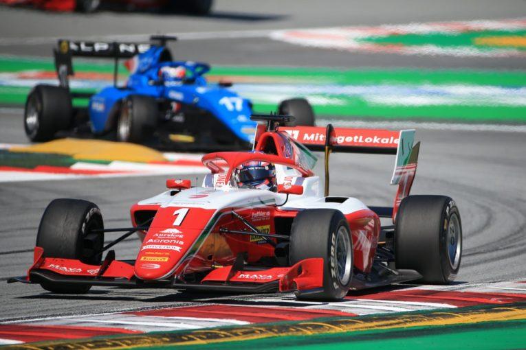 海外レース他   レッドブルジュニアのハウガーが優勝。岩佐歩夢は4台抜くも予選の低調が響く【FIA-F3第1戦スペイン レース3】