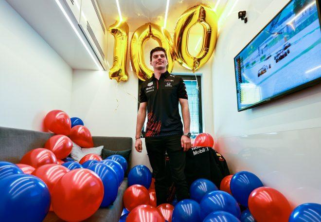 2021年F1第4戦スペインGP レッドブルでの100戦目を迎えたマックス・フェルスタッペン(レッドブル・ホンダ)