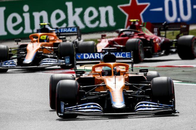 2021年F1第4戦スペインGP ダニエル・リカルドとランド・ノリス(マクラーレン)