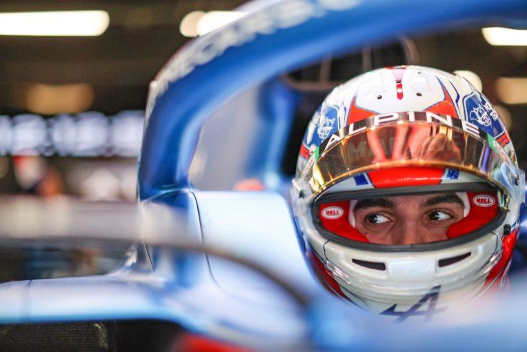 F1   オコン9位「レースペースが課題。フェラーリやマクラーレンと戦えなかった」アルピーヌ/F1第4戦決勝
