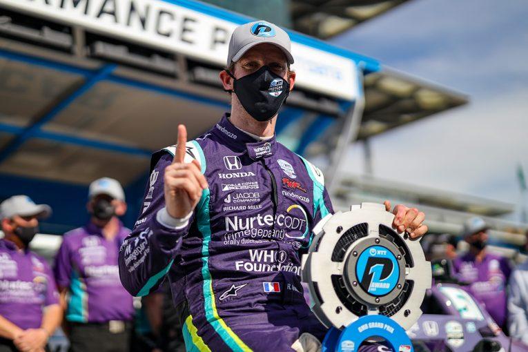 海外レース他   グロージャンがインディカー第5戦GMRグランプリで初ポールを獲得。佐藤琢磨は厳しい予選に