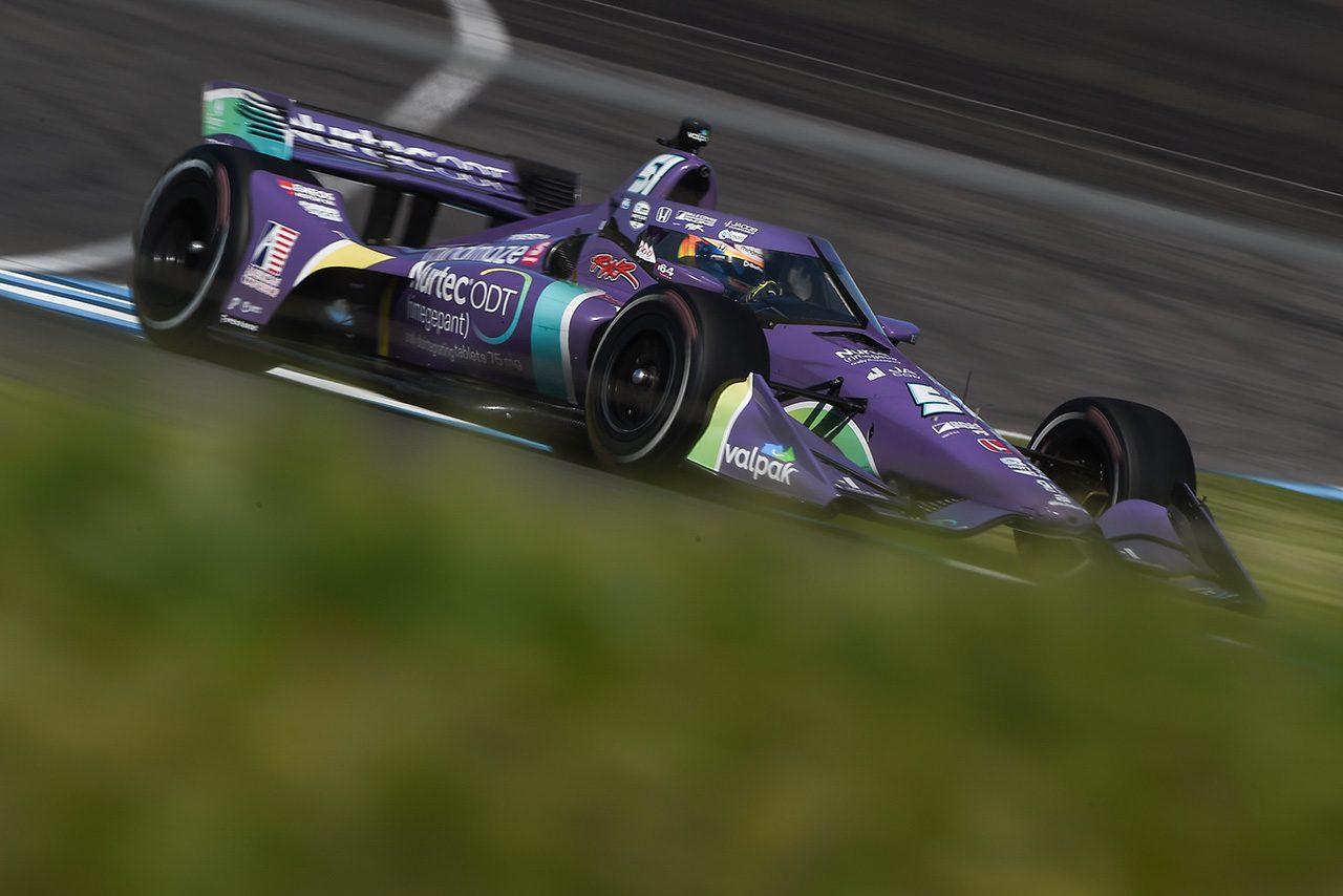グロージャンがインディカー第5戦GMRグランプリで初ポールを獲得。佐藤琢磨は厳しい予選に
