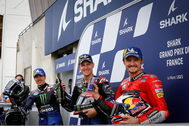 MotoGP   ポール獲得のクアルタラロ、決勝でのコンディションに「スリックで走れればいいけど……」/MotoGP第5戦予選トップ3コメント