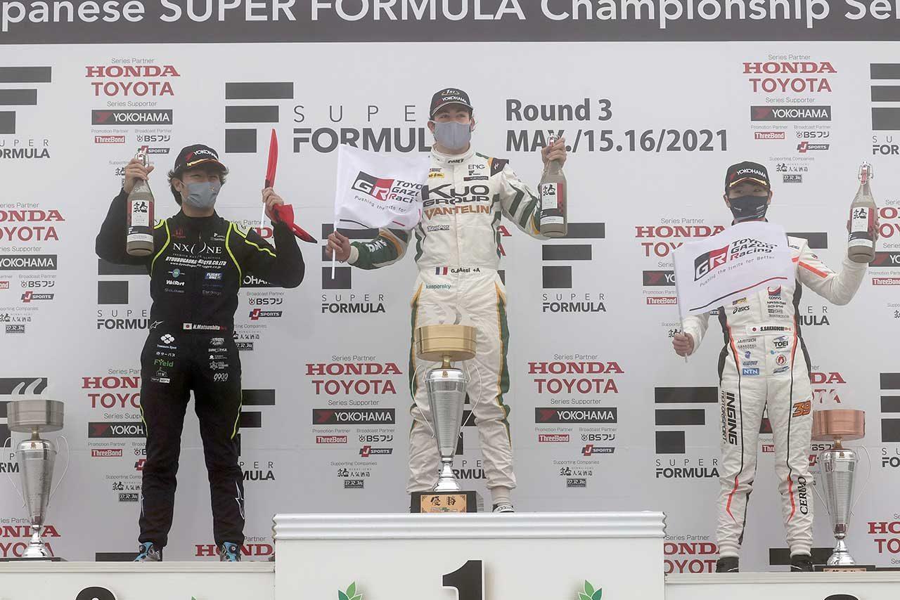 2021スーパーフォーミュラ第3戦オートポリス 暫定表彰式