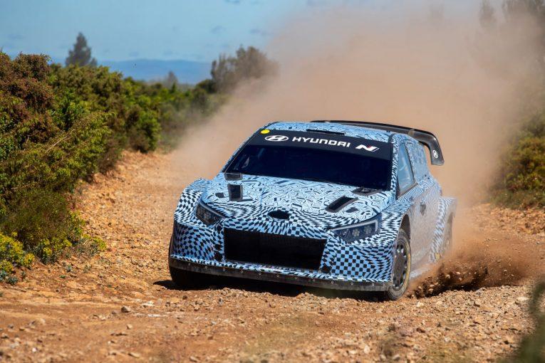 ラリー/WRC   ヒュンダイが新型ラリーカーのテスト開始。ラリー1規定の新型i20 Nを初公開