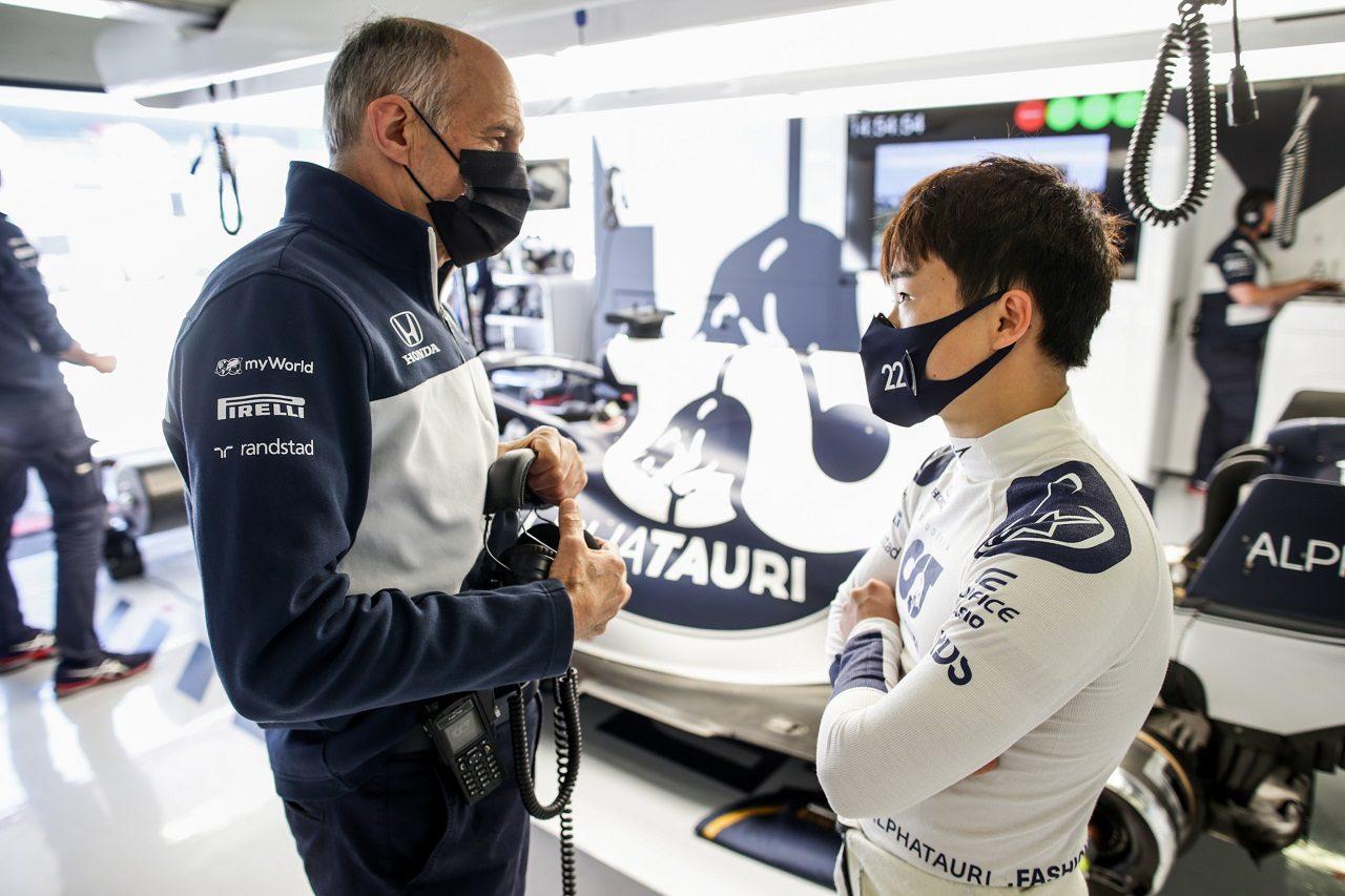 角田裕毅とフランツ・トスト代表(アルファタウリ・ホンダ)