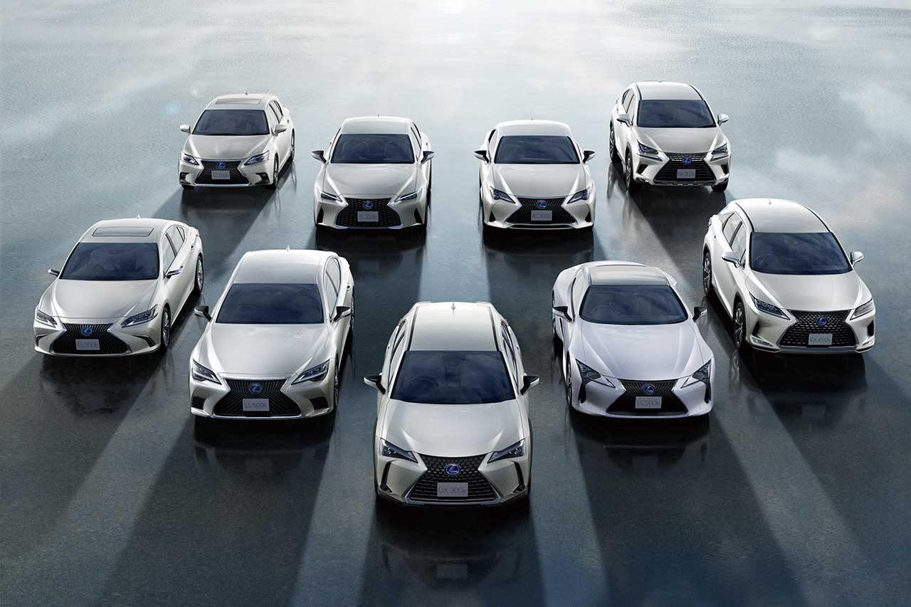 レクサス、電動車の全世界累計販売台数200万台を2021年4月末に達成