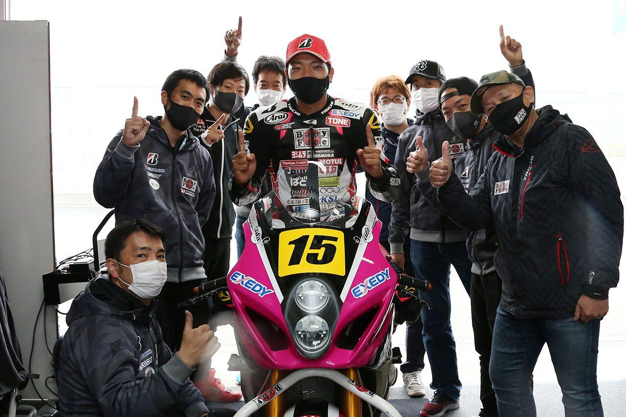 津田一磨「コースサイドのみんなの反応が今までにない感じだった」/全日本ロード第3戦SUGO JSB1000 ポール会見