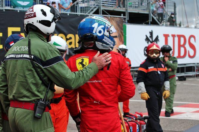 2021年F1第5戦モナコGP シャルル・ルクレール(フェラーリ)が予選でクラッシュ