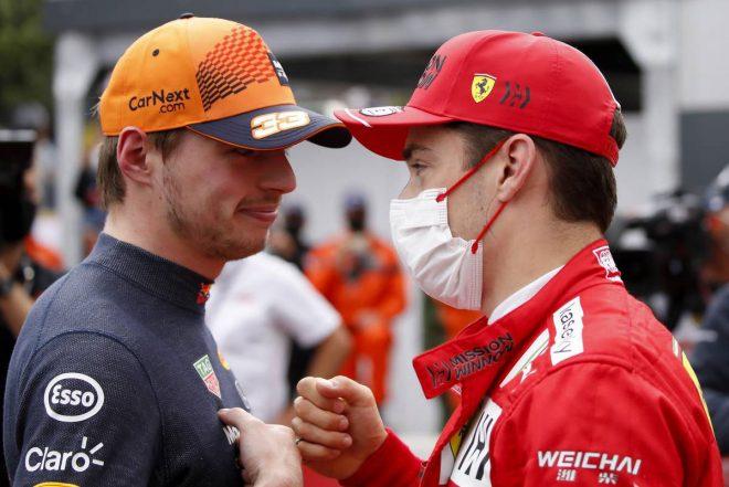 マックス・フェルスタッペン(レッドブル・ホンダ)&シャルル・ルクレール(フェラーリ)