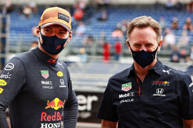 2021年F1第5戦モナコGP マックス・フェルスタッペンとクリスチャン・ホーナー代表(レッドブル・ホンダ)