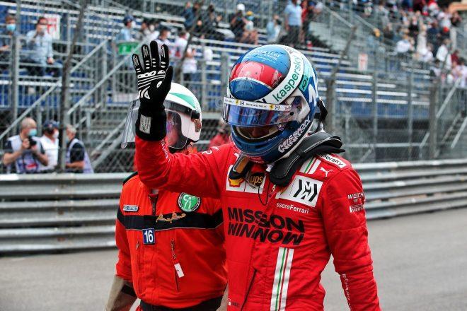 2021年F1第5戦モナコGP シャルル・ルクレール(フェラーリ)がポールを獲得