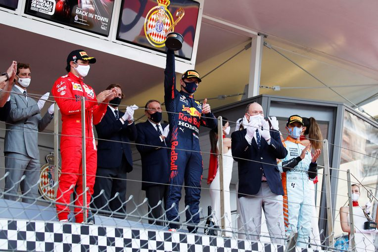 F1   フェルスタッペンがモナコ初優勝で選手権トップ。ホンダは1992年セナ以来のモナコV【決勝レポート/F1第5戦】