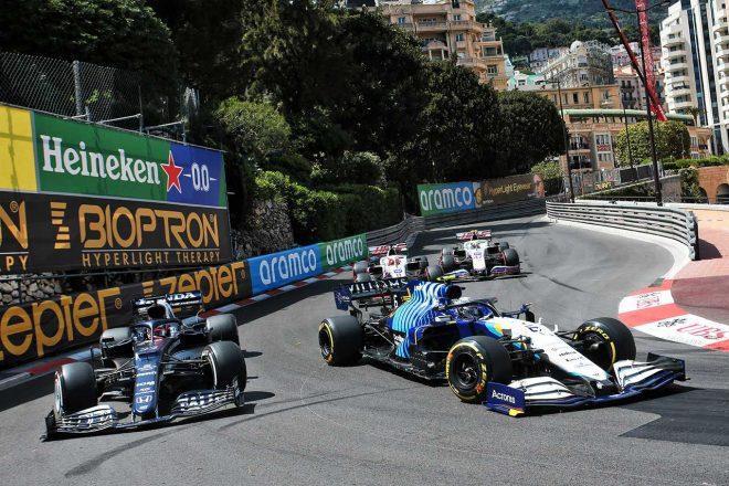 2021年F1第5戦モナコGP 角田裕毅(アルファタウリ・ホンダ)とニコラス・ラティフィ(ウイリアムズ)の争い