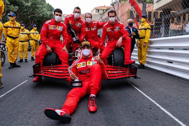 2021年F1第5戦モナコGP カルロス・サインツJr.(フェラーリ)が2位を獲得