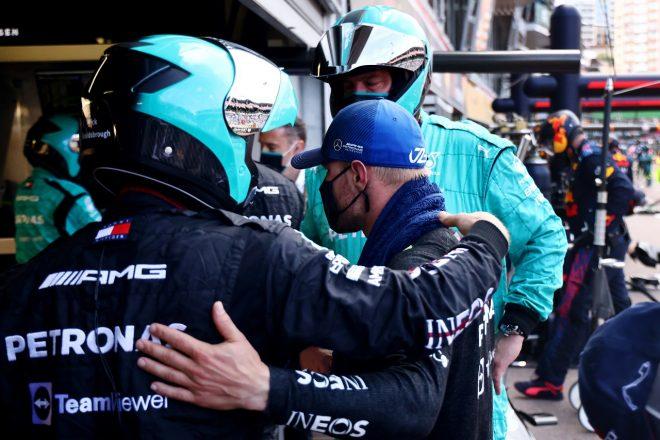 2021年F1第5戦モナコGP バルテリ・ボッタス(メルセデス)がリタイア