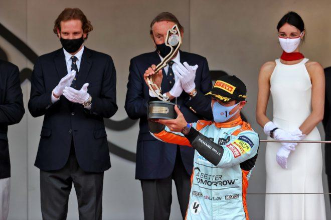 2021年F1第5戦モナコGP ランド・ノリス(マクラーレン)が3位を獲得