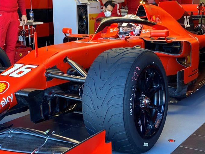 F1   フェラーリF1が18インチウエットタイヤテストを実施。メルセデスはクラッシュによる出費が響き参加を断念