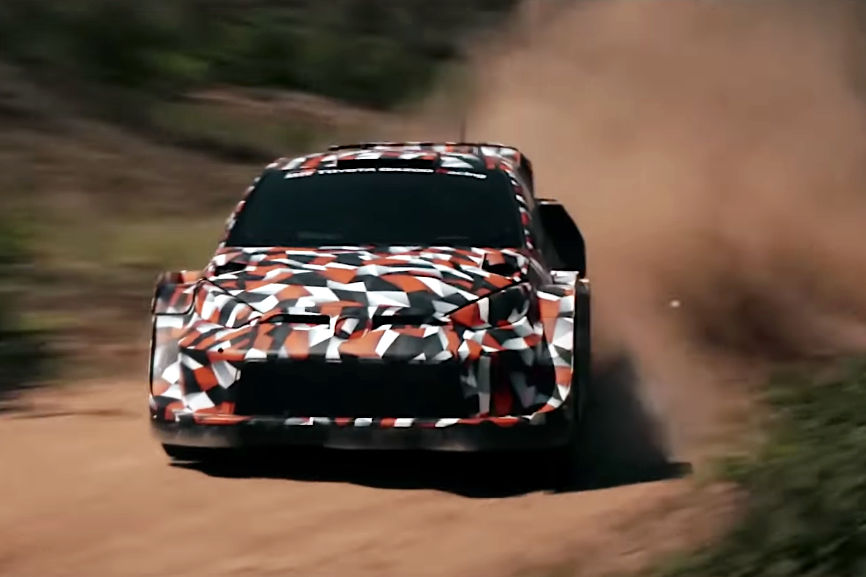 """【動画】トヨタが""""WRCハイブリッド時代""""を戦うラリー1車両のテストを初公開"""