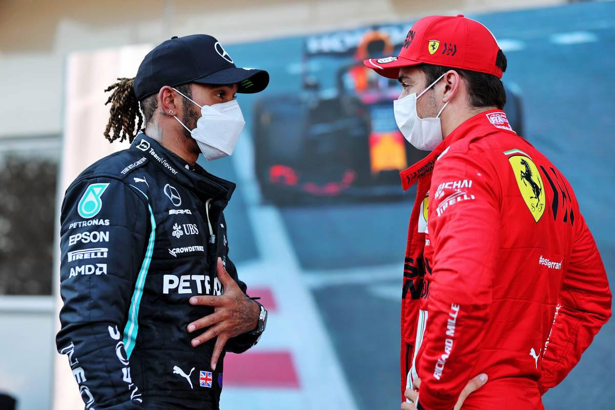 ルイス・ハミルトン(メルセデス)&シャルル・ルクレール(フェラーリ)