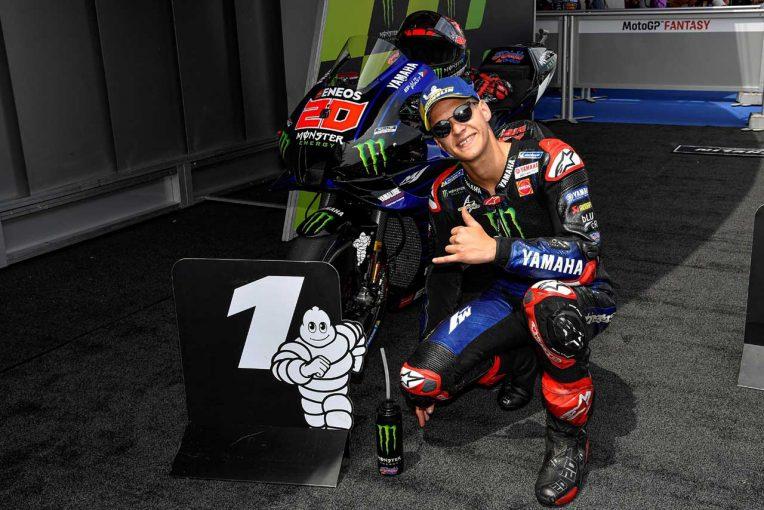 MotoGP   クアルタラロ、レースへのタイヤ選択は「難しいけれど、ミディアムもハードも機能する」/MotoGP第7戦予選トップ3コメント