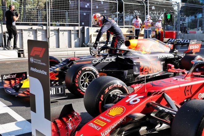 2021年F1第6戦アゼルバイジャンGP 予選直後のマックス・フェルスタッペン(レッドブル・ホンダ)