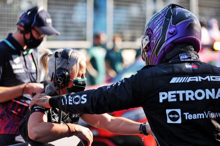 F1   苦戦し続けたハミルトンが予選2番手「FP3の最後にようやく解決の糸口を見つけ出した」メルセデス/F1第6戦