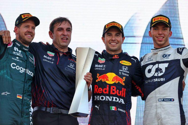 F1   大波乱のレースでペレスがレッドブル移籍後初優勝。角田裕毅は自己最高7位に【決勝レポート/F1第6戦】