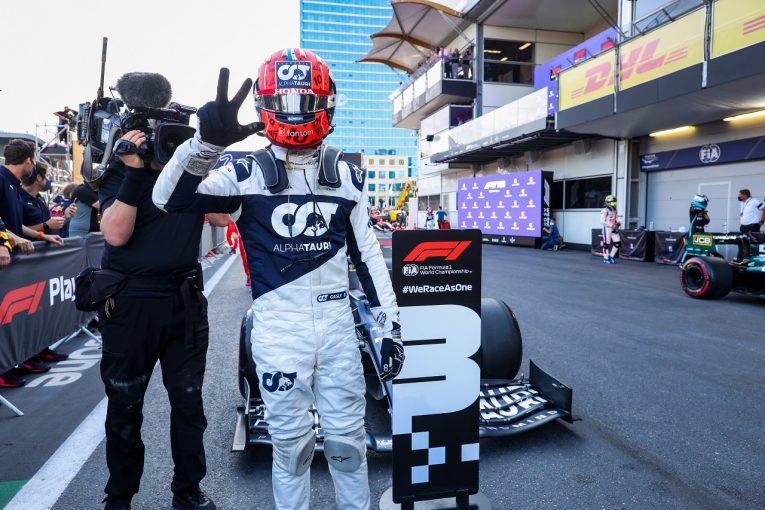 F1 | ガスリー3位「問題発生も諦めず。大きなリスクを冒して表彰台をつかんだ」アルファタウリ・ホンダ/F1第6戦