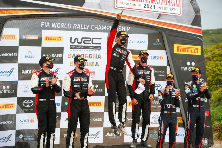 ラリー/WRC | トヨタ、サルディニアで今季3回目のワン・ツー・フィニッシュ。WRC両選手権首位を堅守