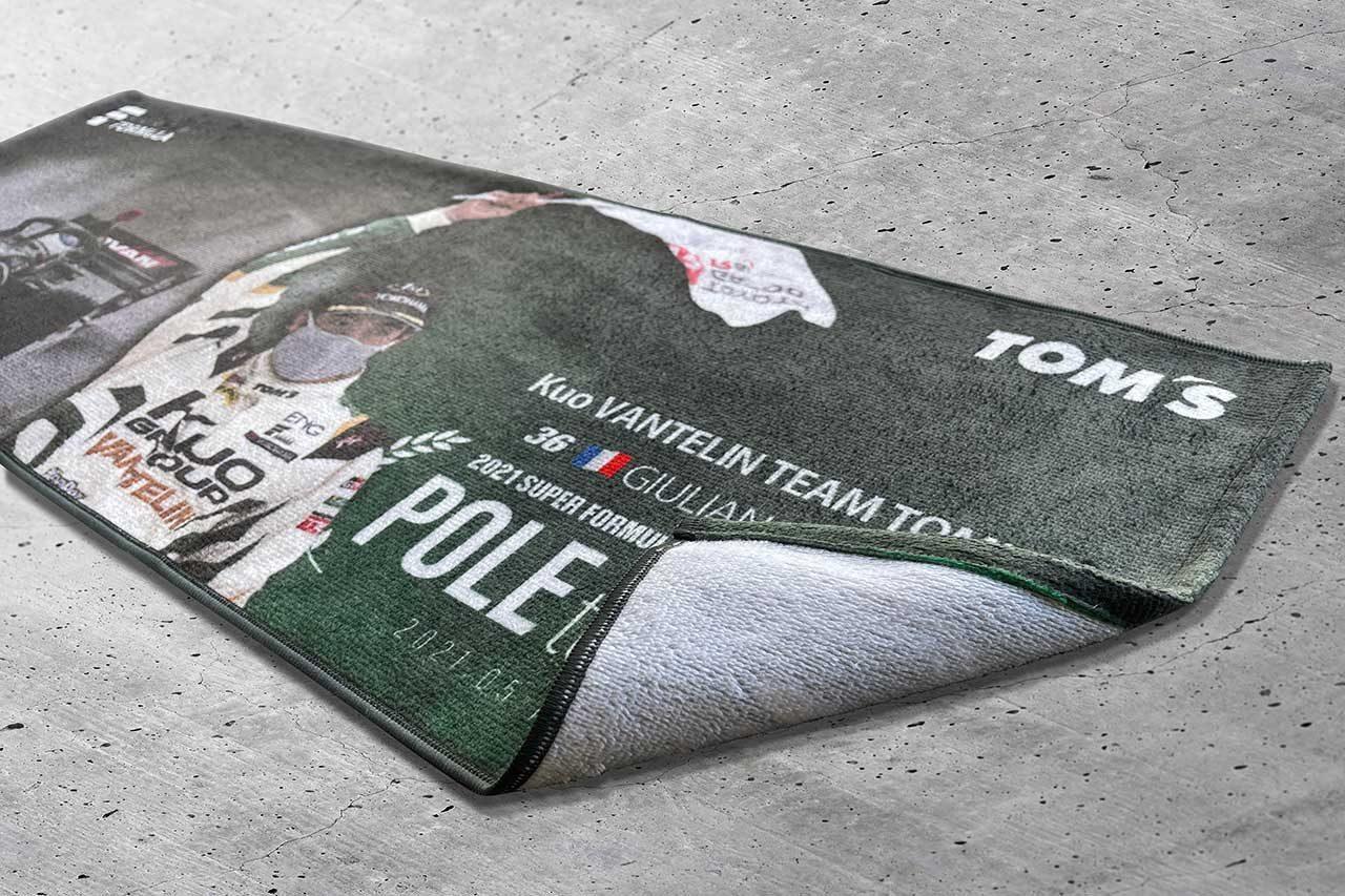 トムス、ジュリアーノ・アレジのSFポール・トゥ・ウイン記念タオルを期間限定で受注販売