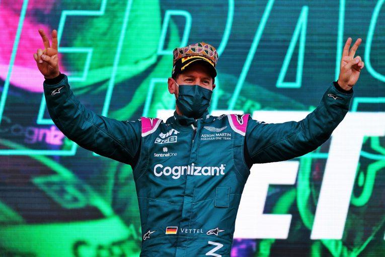 F1 | ベッテル移籍後初表彰台「予選11番手でスタートタイヤを選べたことがカギに」アストンマーティン/F1第6戦