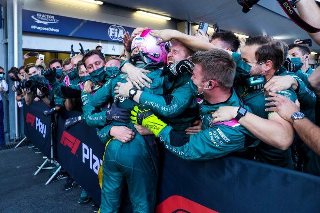 2021年F1第6戦アゼルバイジャンGP セバスチャン・ベッテル(アストンマーティン)が2位を獲得