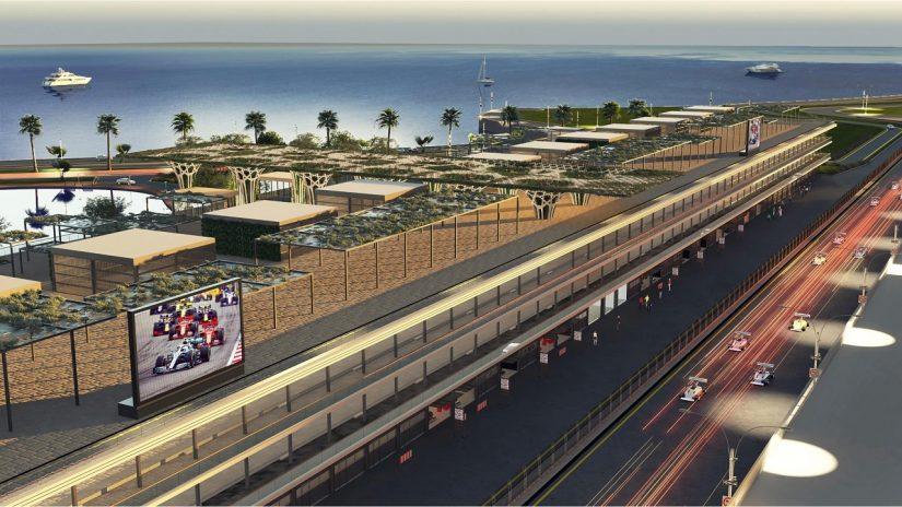 F1   F1初開催まであと半年。サウジアラビアGPのオーガナイザーがピットビルディングの画像を公開