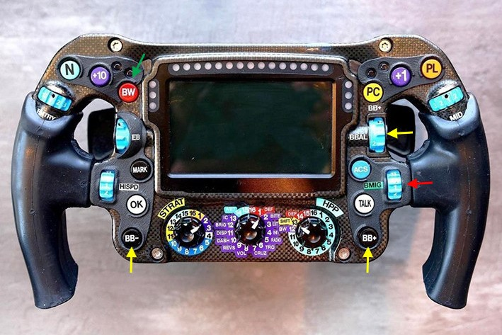 メルセデスF1 W12のステアリング