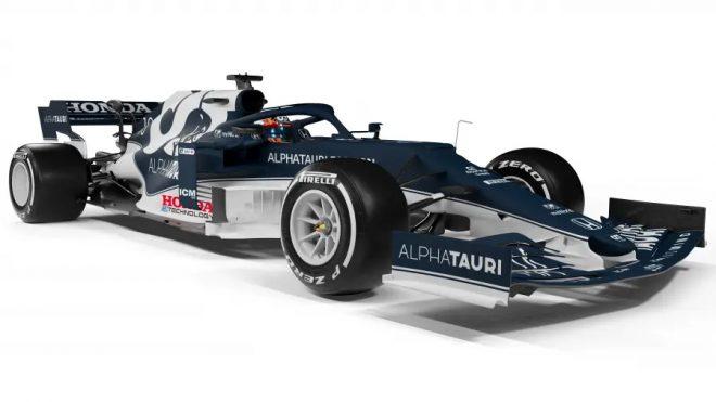 『Honda e:TECHNOLOGY』ロゴが入れられたアルファタウリ・ホンダのマシン