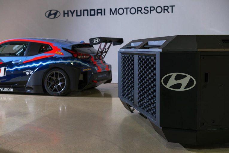 海外レース他   ヒュンダイグループのHTWOがETCRに燃料電池発電機の供給を発表。ゼロエミッションを実現